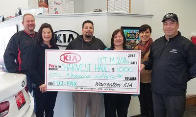 Warrenton Kia hauls in donation
