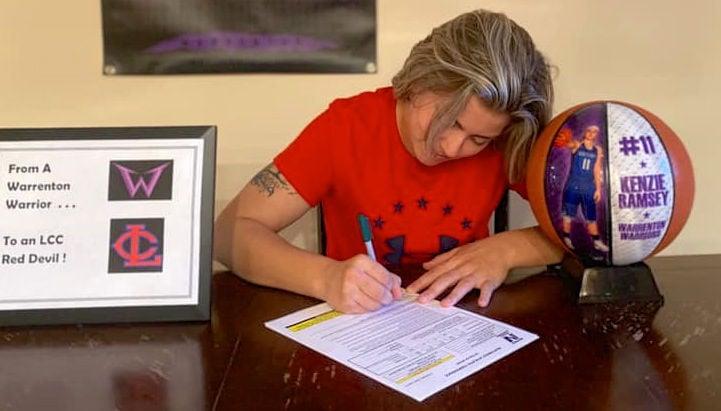 Kenzie Ramsey, signing