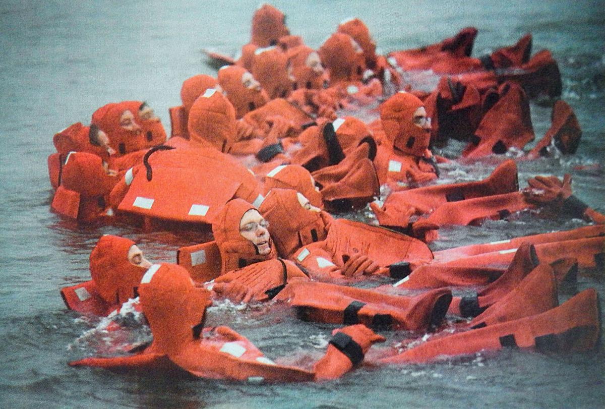 Coast Guard cutter Alert crew members