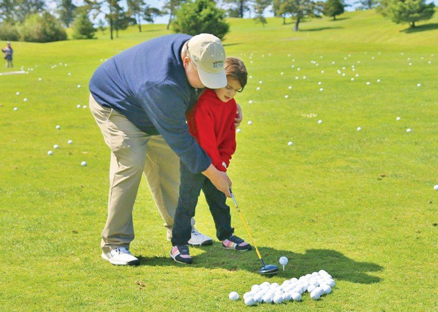 Golf balls from the sky help clothe kids