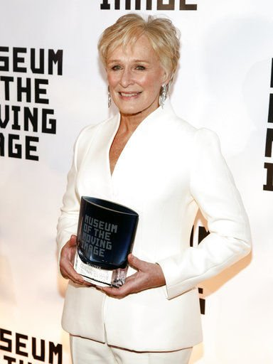 Honored in NYC, Glenn Close says 'I speak through my work'