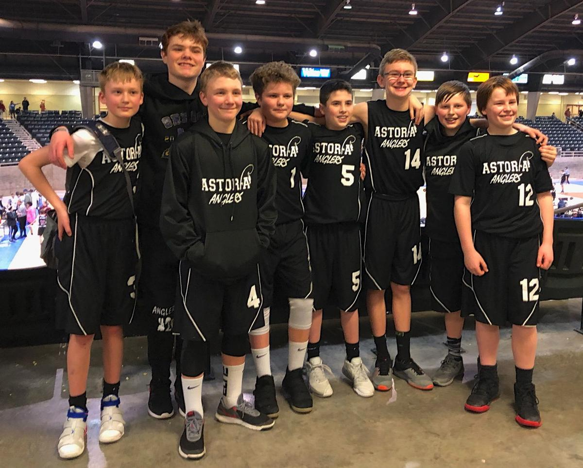 Seventh grade Astoria basketball team
