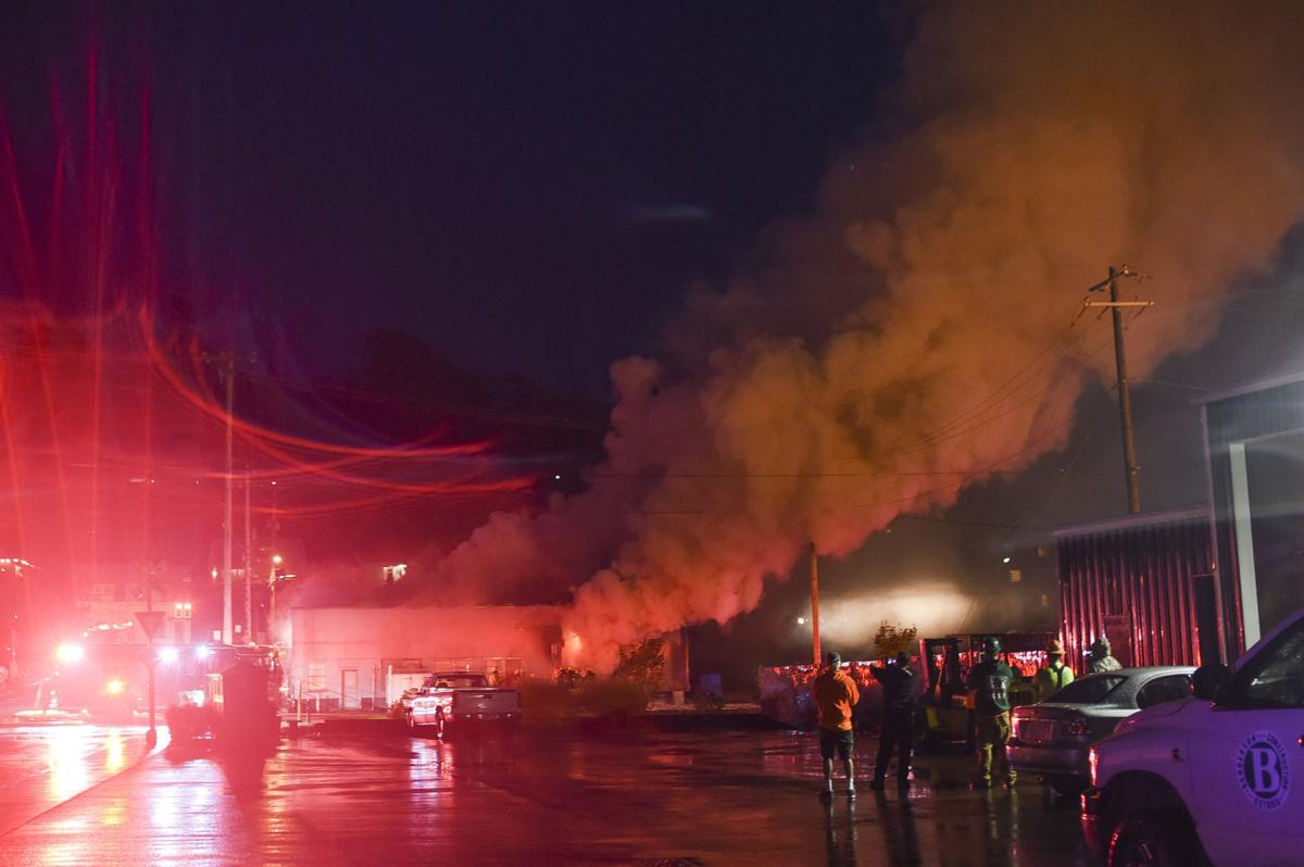 Explosion leads to fire at west-end pot business