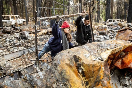Authorities hopeful wildfire death toll lower than feared