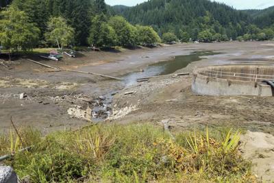 Fishhawk Lake drained