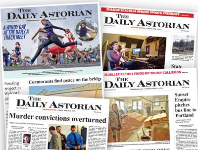 The Daily Astorian front pages from the past few weeks