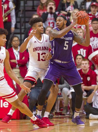 Indiana edges Northwestern 68-66 in Big Ten opener