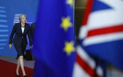 The Latest: May says UK, EU need 'courage, trust' on Brexit
