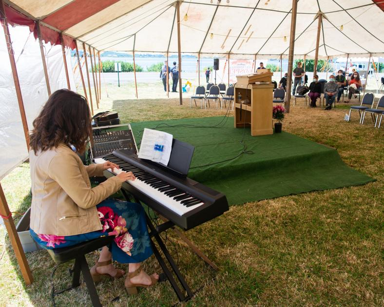 Gospel tent gathering in Astoria opens with a small footprint