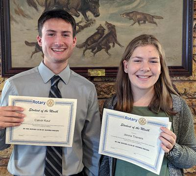 Astoria Rotary announces October Students of the Month