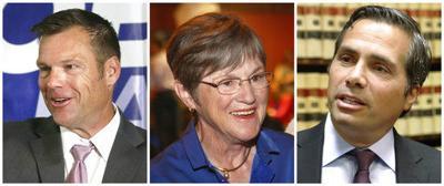 Kobach ties immigrant caravan to Kansas policies in debate