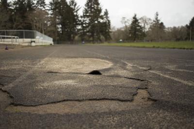 Warrenton Grade School track bubbles up, closes down