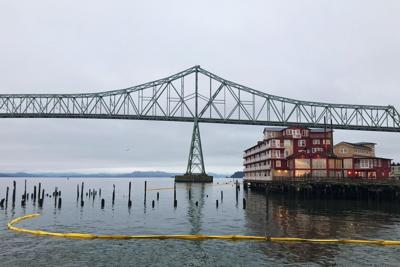 Cannery Pier Hotel oil spill