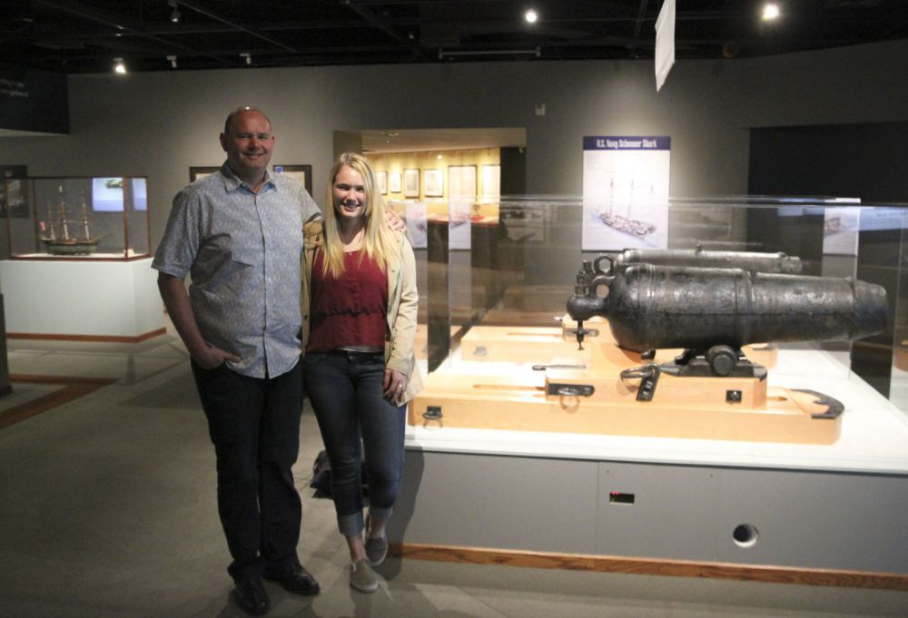Family rediscovers Shark's cannon