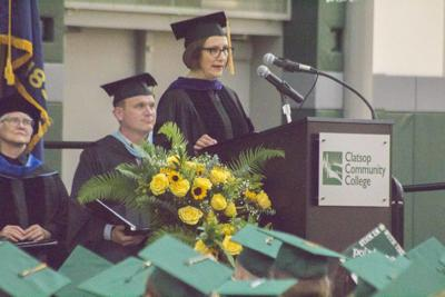 Suzanne Bonamici at graduation
