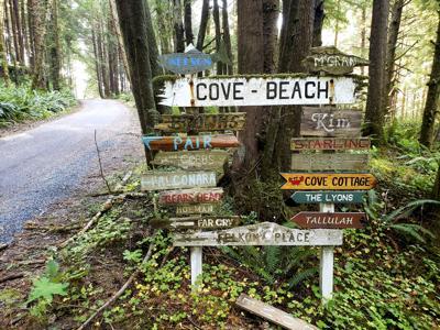 Cove Beach Sign