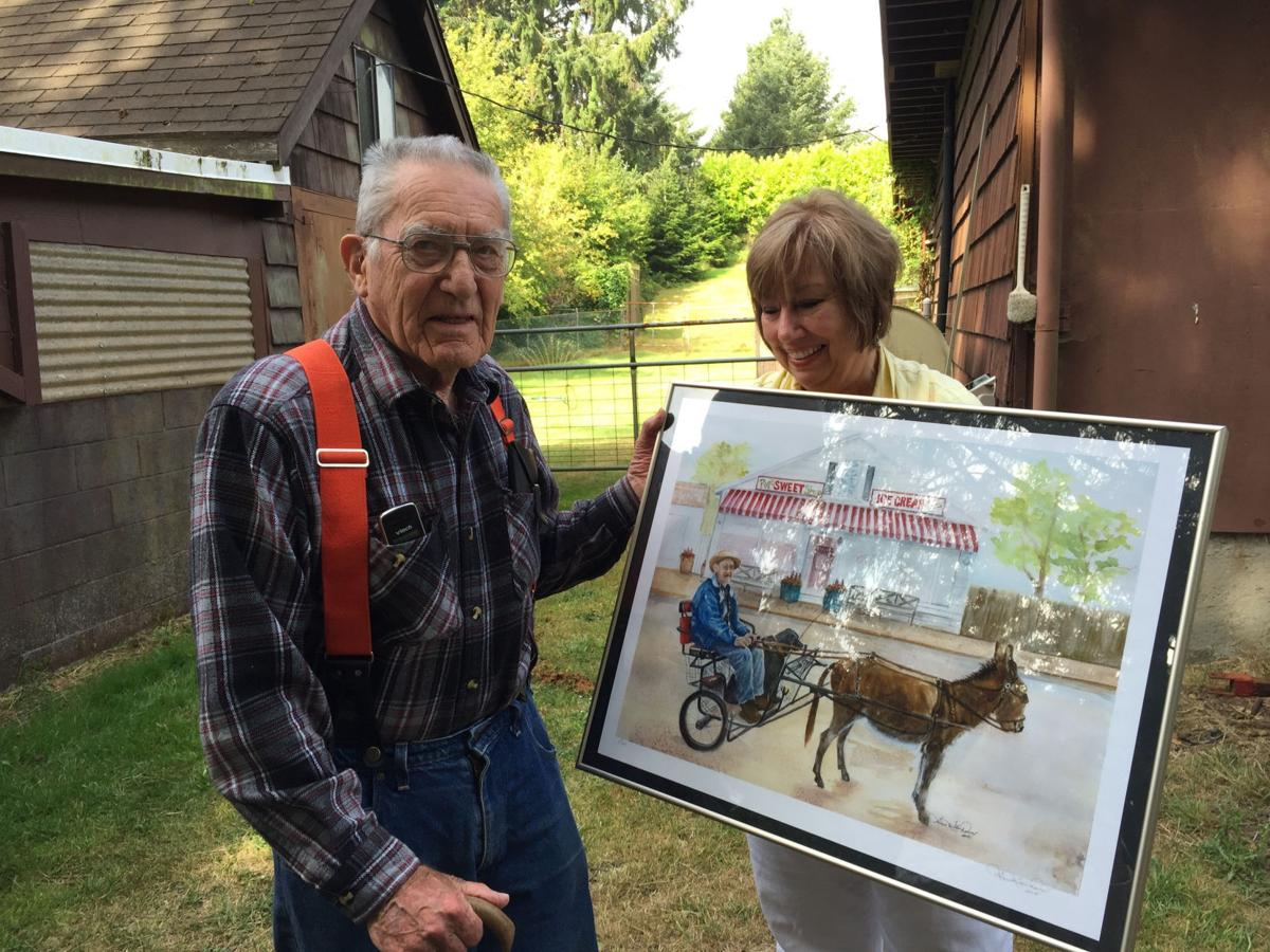 Watercolorist draws on local figure for inspiration