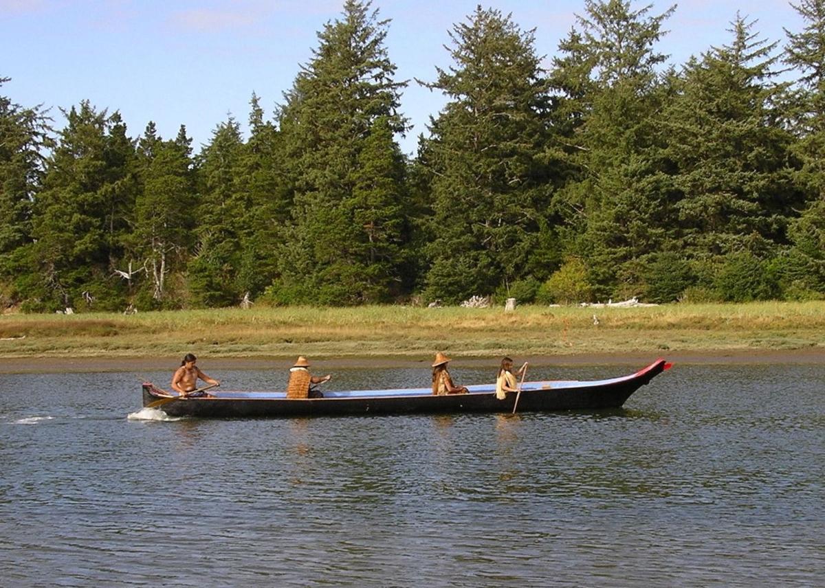 Canoe ride on estuary