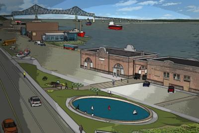 Columbia River Maritime Museum pond