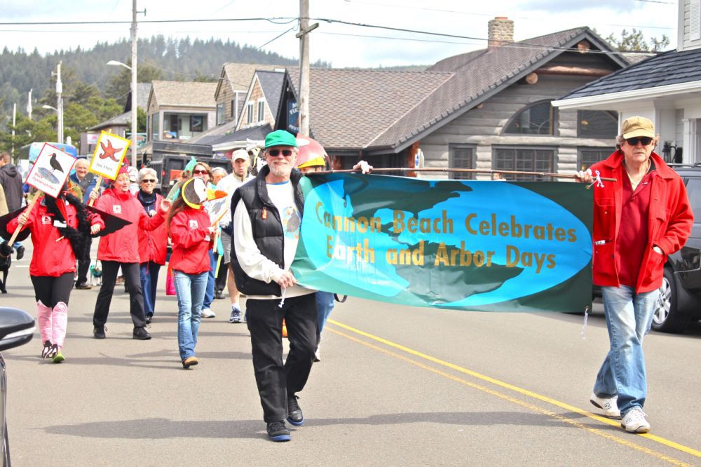 Earth Day celebration includes sign unveiling, parade