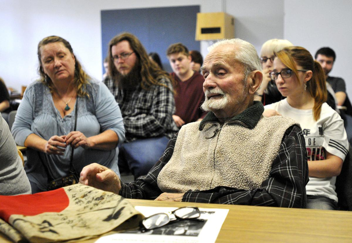 WWII vet hopes Japanese flag can be given to owner's family