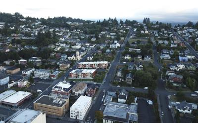 Overview of downtown Astoria