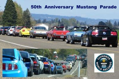 Mustangs parade into world record