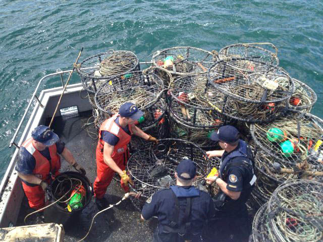 Crab nab nets 150 illegal pots