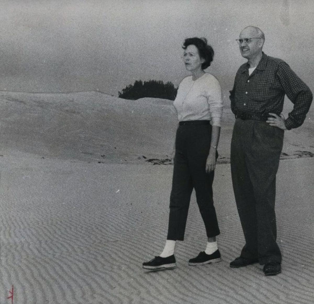 Maurine and Richard Neuberger on the Oregon Coast in 1959