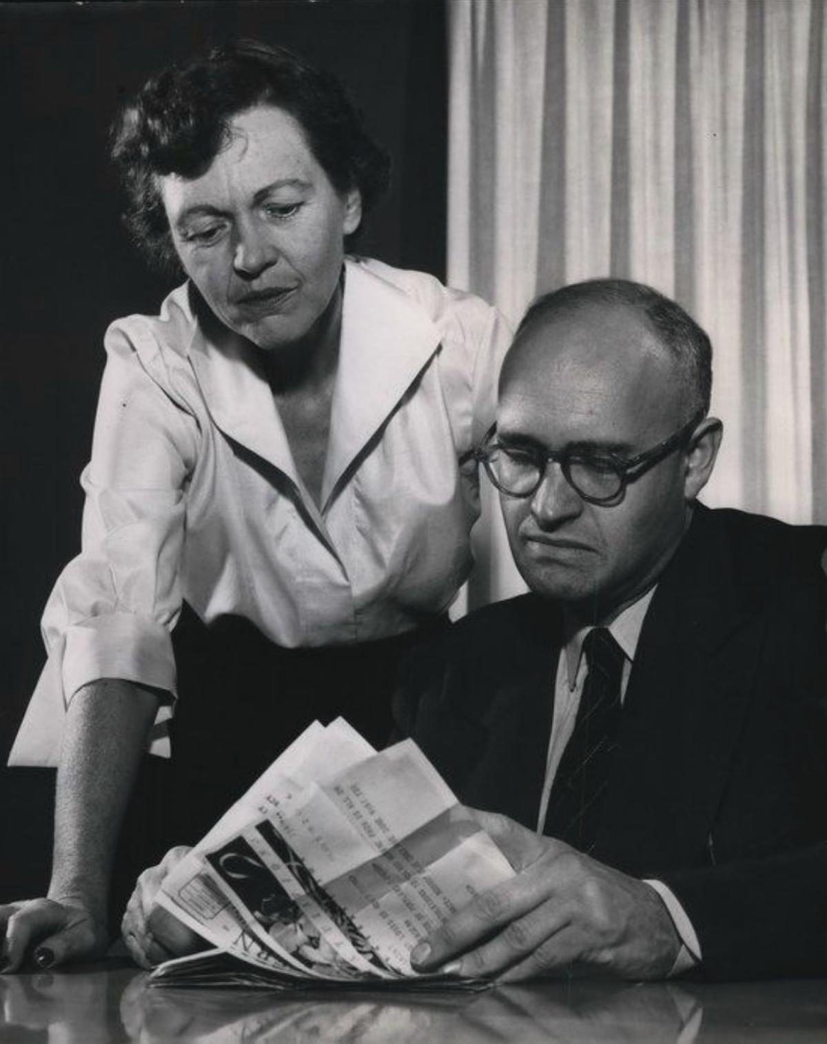 Maurine and Richard Neuberger in 1973