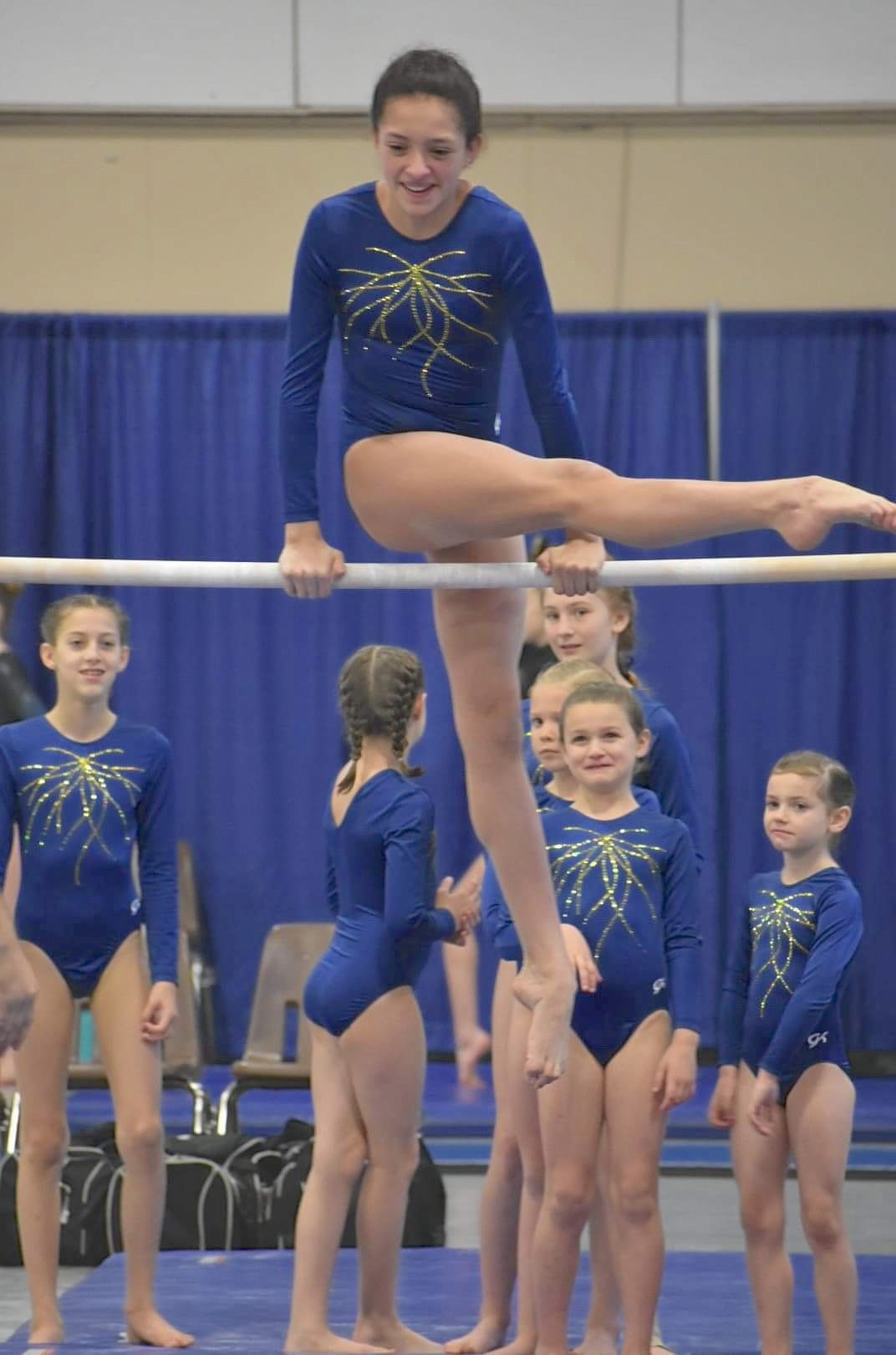 Gymnast Annie Rehnert on the bars