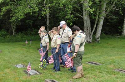 Scouts pay tribute to veterans