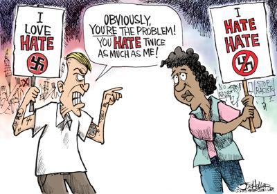 Editorial cartoon: Hate