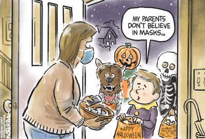 Halloween mask debate