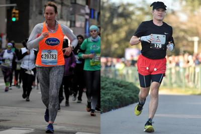 Boston marathoners