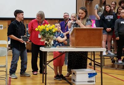 Hartley honored at end of year assembly