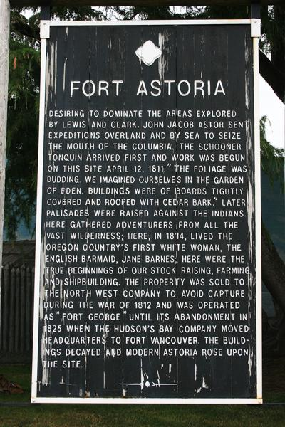 Fort Astoria sign