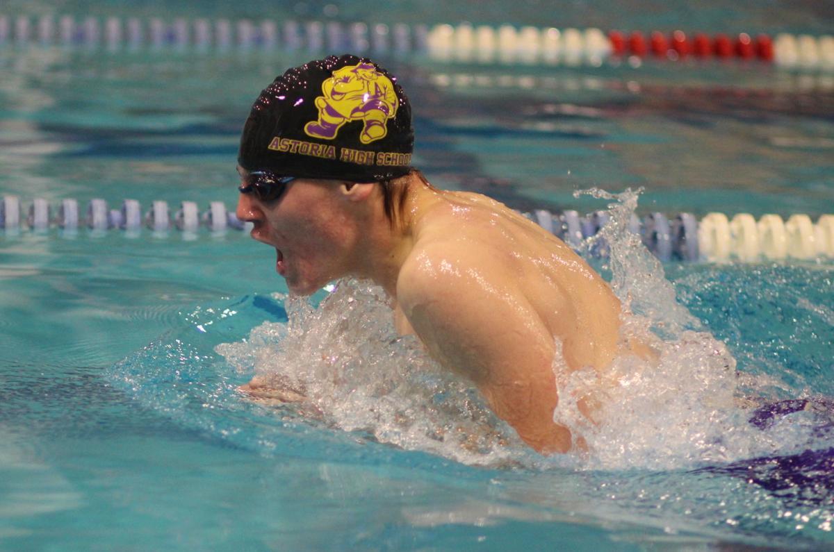 Rocky Rub swims the breaststroke
