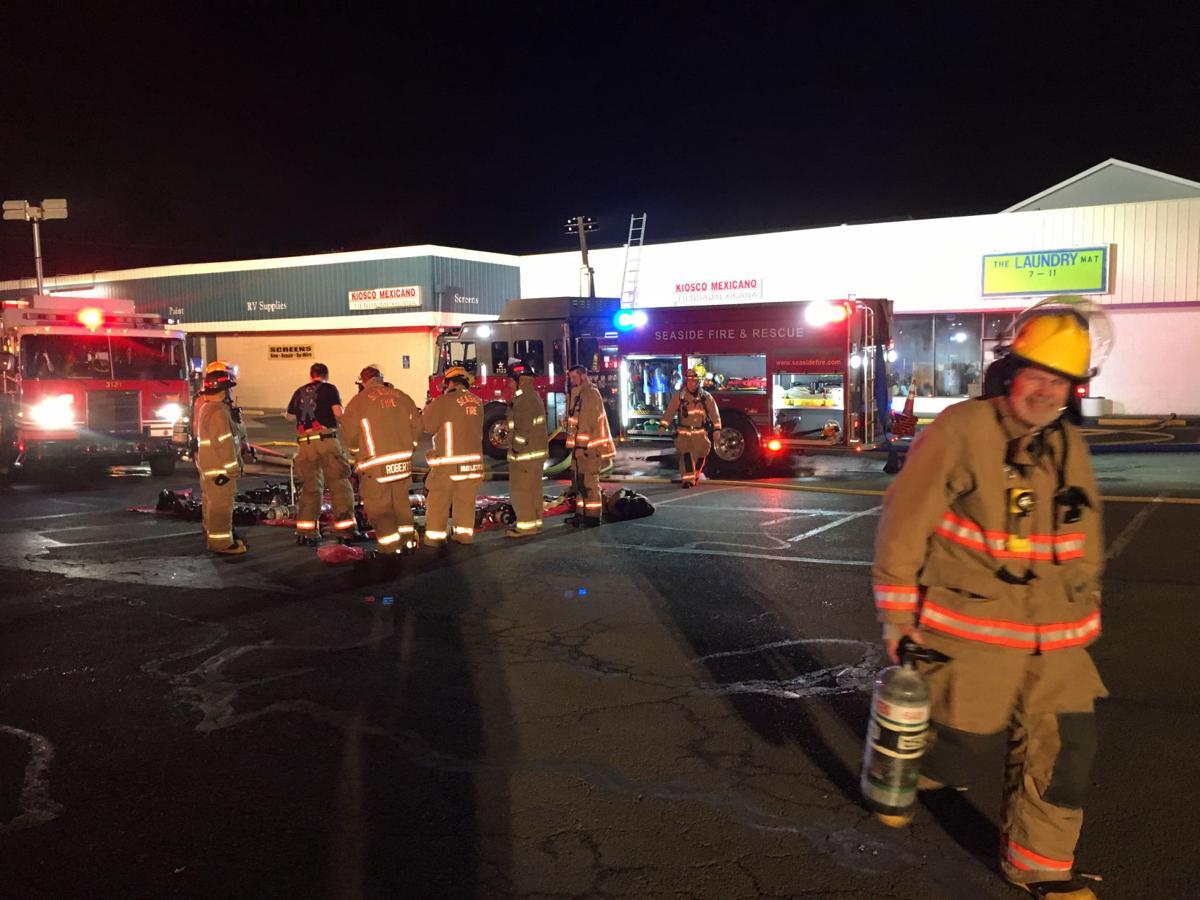 Laundromat fire in Seaside threatens neighboring businesses, homes