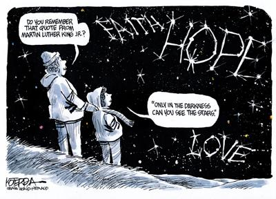 Editorial cartoon: The words of Martin Luther King Jr.