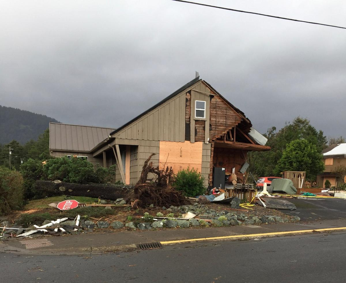 Tornado leaves damage in its wake