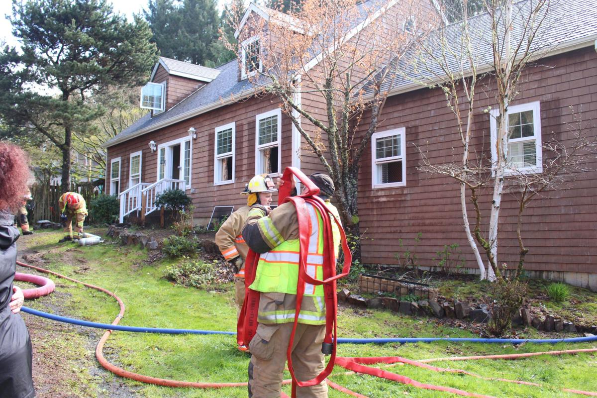 Cannon Beach Fire responds to fire on Sunset Boulevard