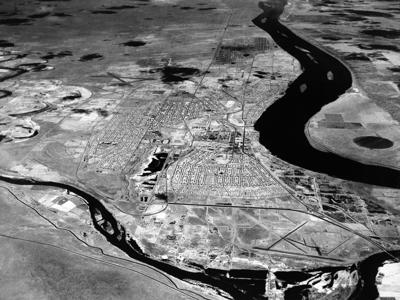 Aerial view of Hanford