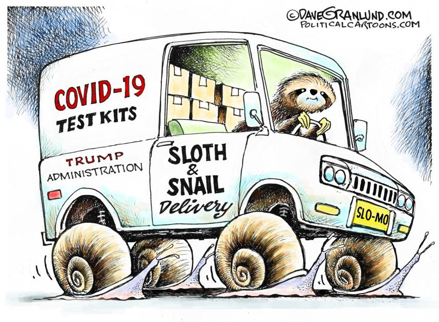 Image result for trump coronvirus test kits