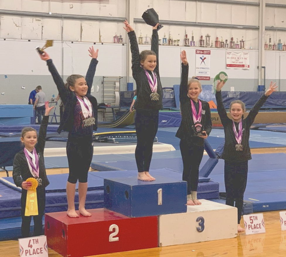 Astoria gymnast Audrey Steele in first place