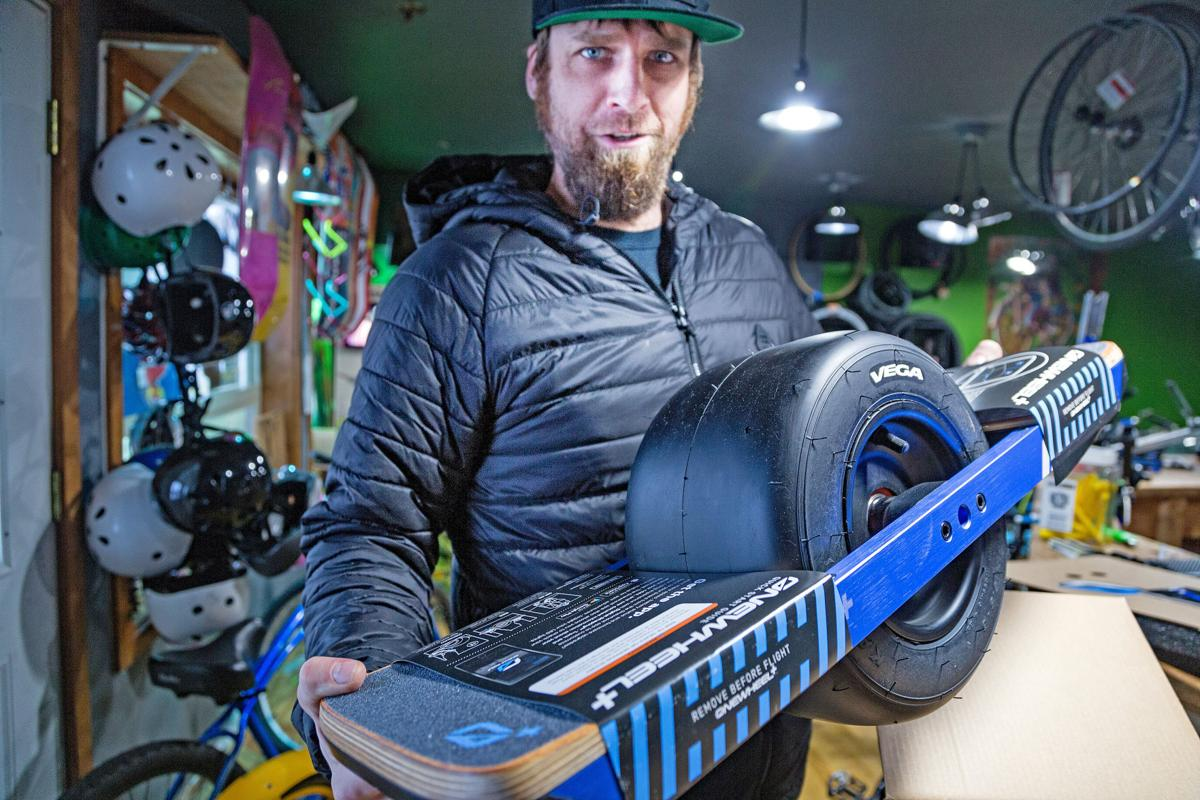 'Onewheel' rolls into Long Beach Local teen inspires bike shop to invest in self-balancing, electric skateboards