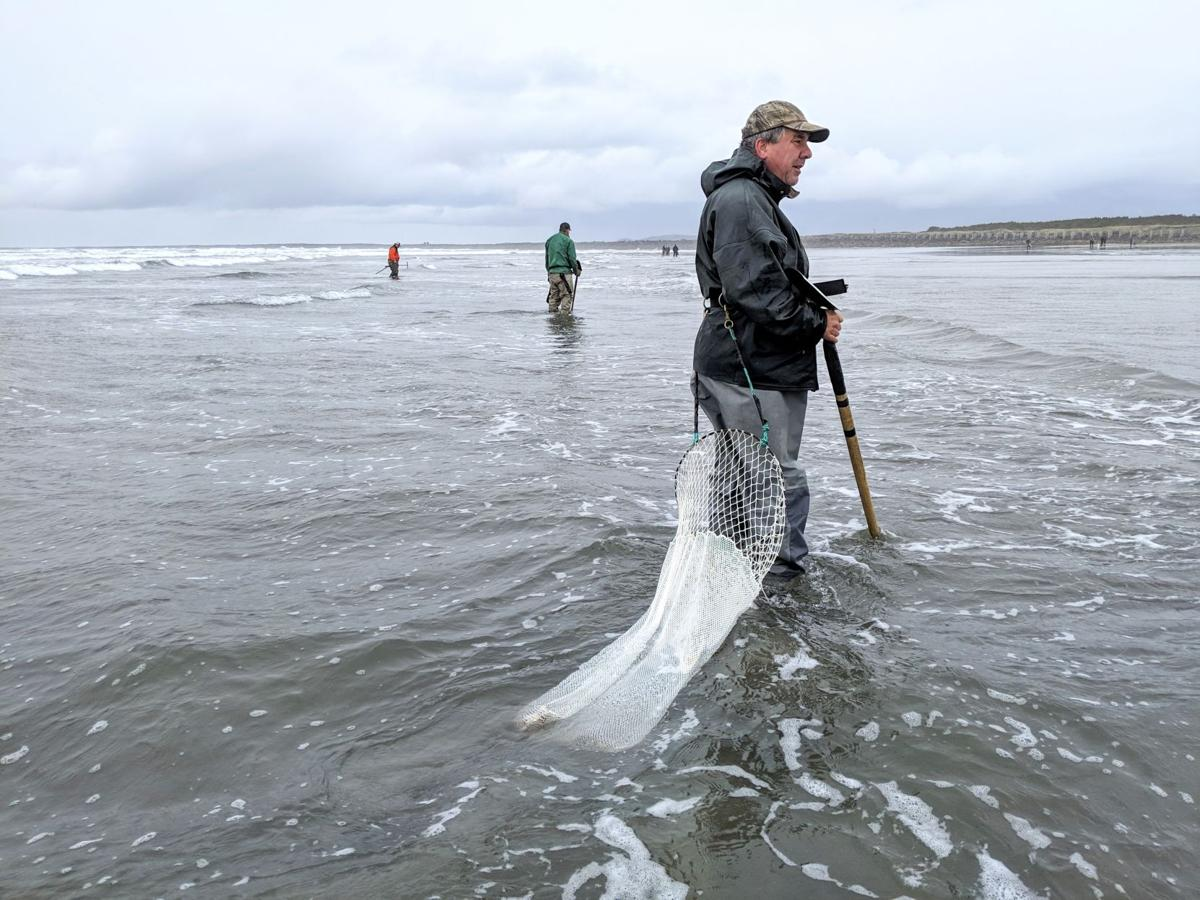 Clammers dig near South Jetty
