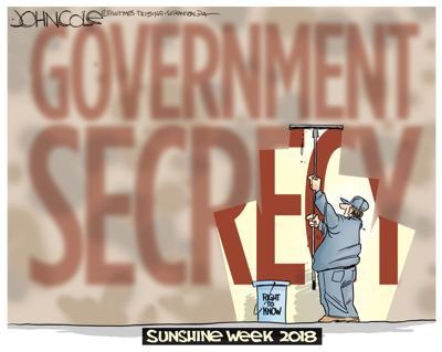 Editorial cartoon: Government secrecy