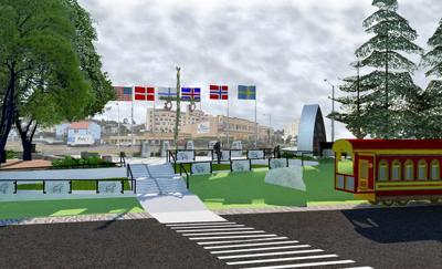 Nordic park from Riverwalk