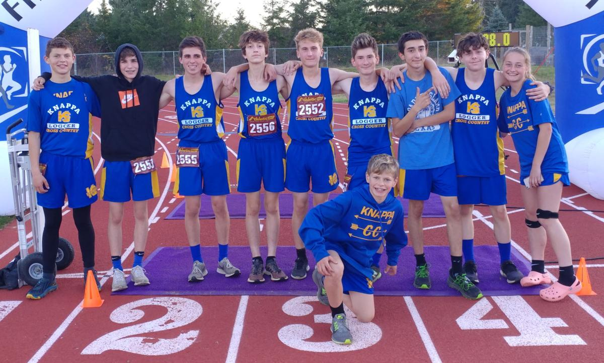 Knappa boys cross-country team